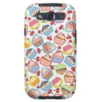 Lotsa Cupcakes n Cherries Samsung Galaxy S Case Samsung Galaxy SIII Cover
