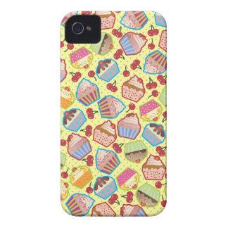 Lotsa Cupcakes n Cherries Yellow BlackBerry Case