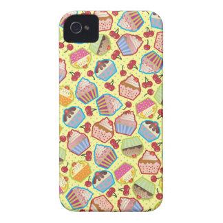 Lotsa Cupcakes n Cherries Yellow Case-Mate iPhone 4 Case