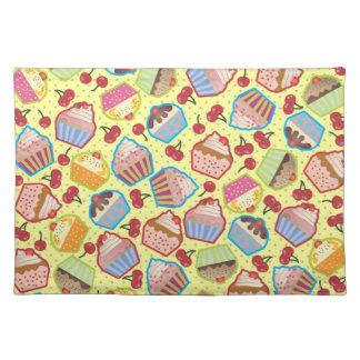 Lotsa Cupcakes n Cherries Yellow Placemat