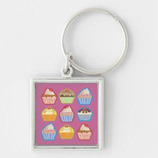 Lotsa Cupcakes Pink Keychain