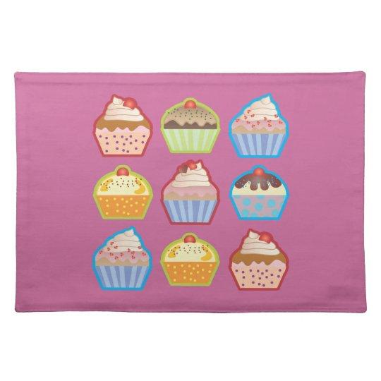 Lotsa Cupcakes Pink Placemat