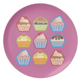 Lotsa Cupcakes Pink Plate