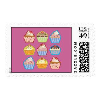 Lotsa Cupcakes Pink Postage Stamp