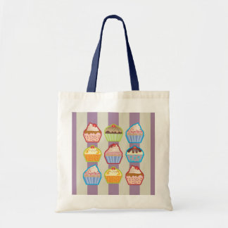Lotsa Cupcakes Purple Stripes Bag