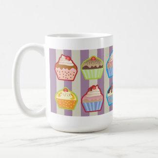 Lotsa Cupcakes Purple Stripes Mug