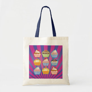 Lotsa Cupcakes Purply Blue Stripes Bag