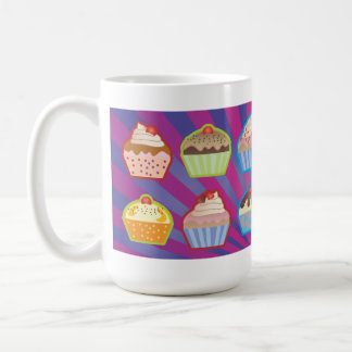 Lotsa Cupcakes Purply Blue Stripes Mug