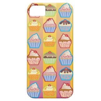 Lotsa Cupcakes Yellowy Pink Stripes iPhone 5 Case
