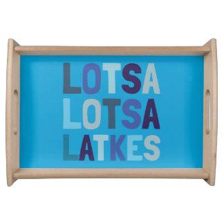 Lotsa Lotsa Latkes Holiday Chanukah/Hanukkah Tray