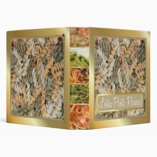 """Lotsa Pasta Recipes"" Binder"