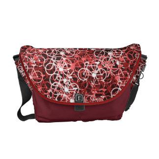 Lotsa Red Bikes Cyclist's Messenger Bag
