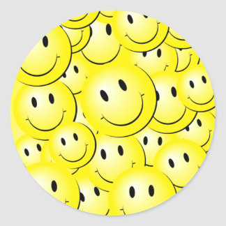Lotsa Sunny Happy Faces on Stickers