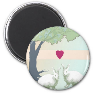 Lotta Bunny Love 2 Inch Round Magnet