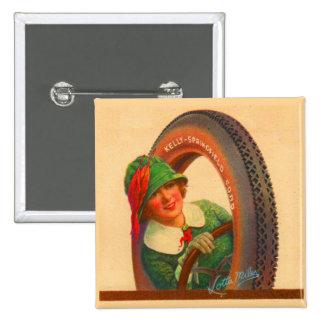 Lotta Miles no. 1- 1920s Kelly-Springfields tire m Pinback Button