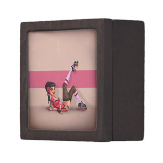 Lotta Payne - Roller Derby Pinup Girl Jewelry Box