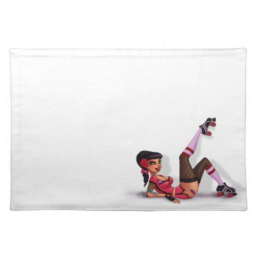 Lotta Payne - Roller Derby Pinup Girl Placemats