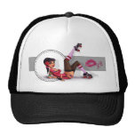 Lotta Payne - Roller Derby Pinup Girl Trucker Hat