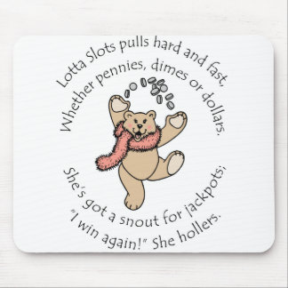 Lotta ranura el peluche afortunado tapete de raton