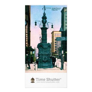 Lottas Fountain San Francisco California 1910 Personalized Photo Card