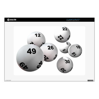"Lottery Balls Decal For 15"" Laptop"