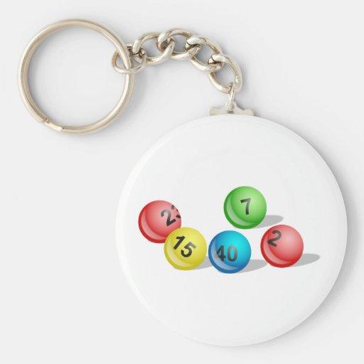 Lottery Balls Key Chain