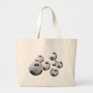 Lottery Balls Large Tote Bag