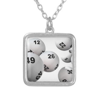 Lottery Balls Silver Plated Necklace