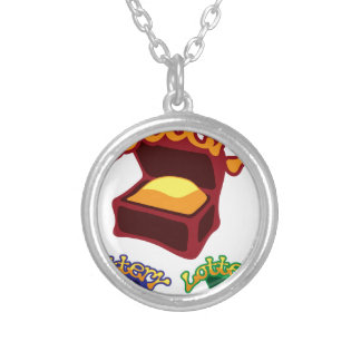Lottery Chest Silver Plated Necklace