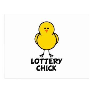Lottery Chick Postcard
