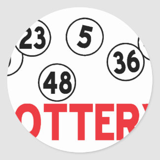 lottery designs classic round sticker