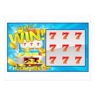 Lottery Scratch and Win Card