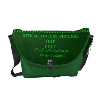 Lottery Tote Messenger Bag