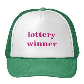 lottery winner trucker hat