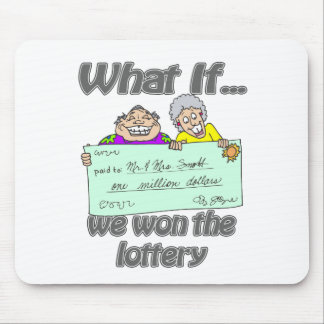 Lottery winners mouse pad