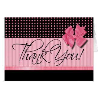 Lotti Dotti - gracias tarjeta de nota los rosas b