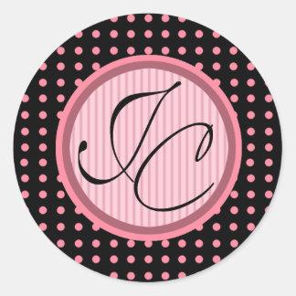Lotti Dotti - pegatina de las iniciales rosas beb