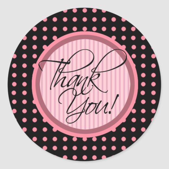Lotti Dotti - Thank You Sticker (Baby Pink)