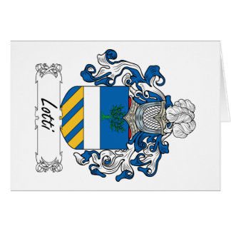 Lotti Family Crest Greeting Card