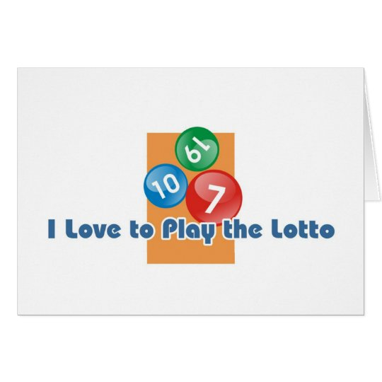 Lotto player's greetings card