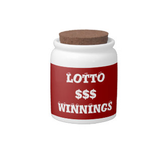 Lotto Players Retirement Fund Spare Change Bank Candy Dishes