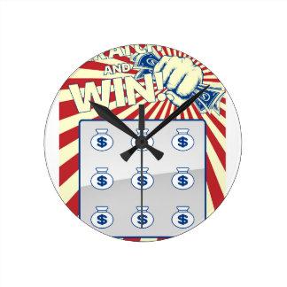 Lotto Scratch Card Round Clock