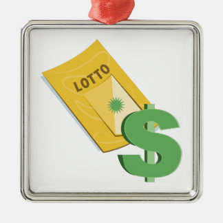 Lotto Ticket Metal Ornament