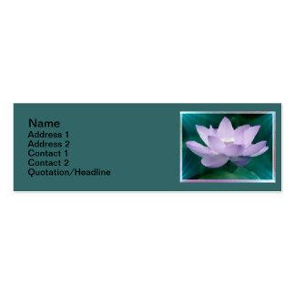 """Lotus5 3"""" flaco"""" tarjeta de visita x1"""
