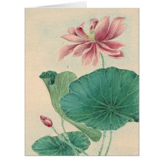 Lotus 1870 tarjeta de felicitación grande