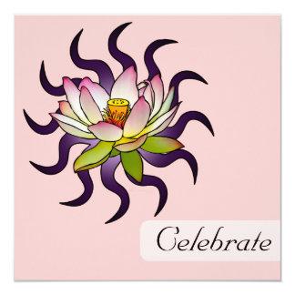 "Lotus, 5.25""x5.25"" invitation"