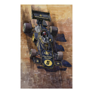 Lotus 72 D Spanish GP 1972 Emerson Fittipaldi Poster