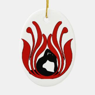 Lotus abstracto - ornamento de la yoga ornamento para arbol de navidad