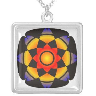 Lotus afortunado. Mandala. estilizado Colgantes