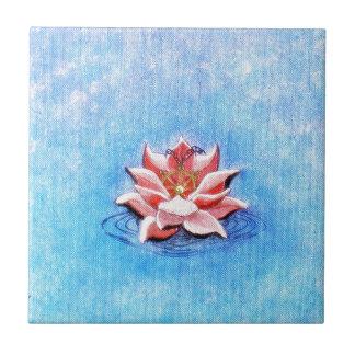 Lotus And Dharma Ceramic Tile